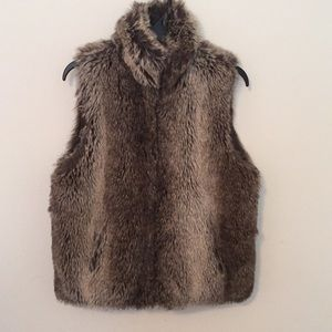 Other - Faux Fur Vest with Pockets